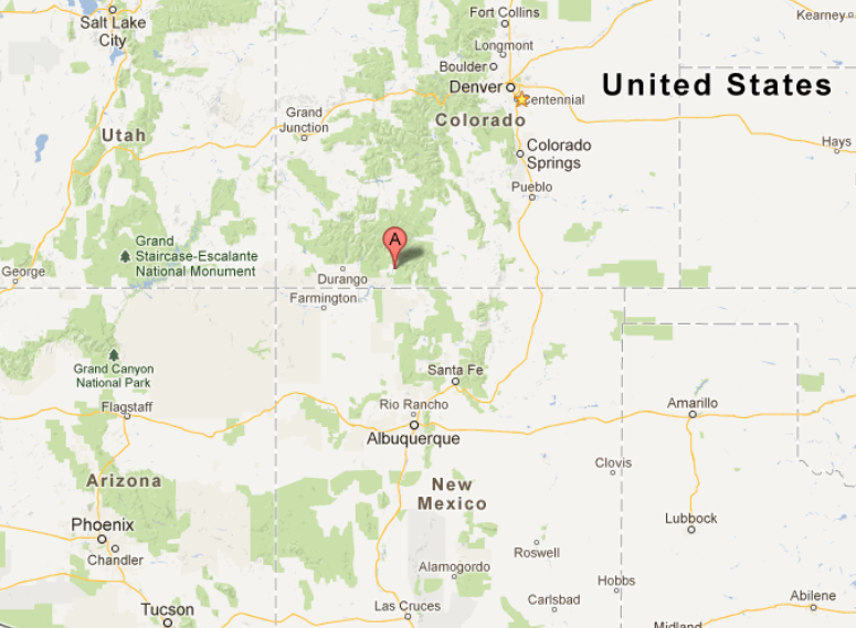 Location of Pagosa Springs