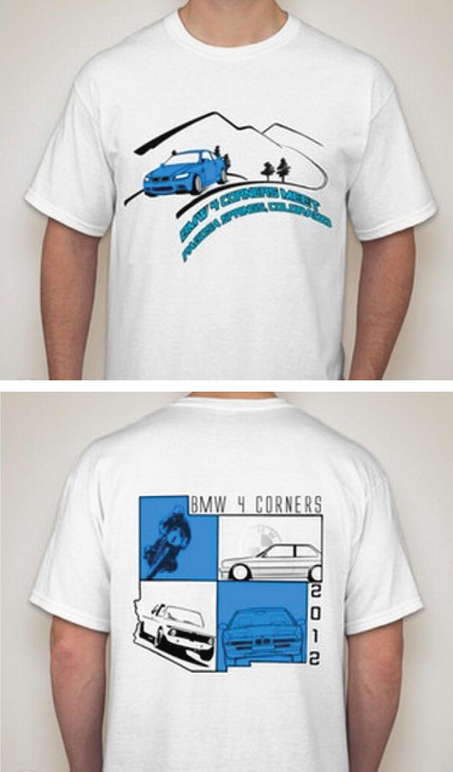 BMW 4 Corners 2012 Shirt