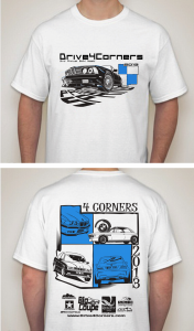 The Drive 4 Corners 2013 Event Tshirt