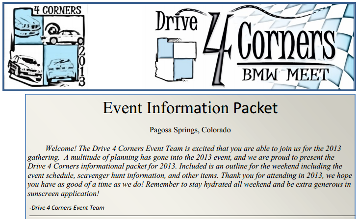 2013 Informational Packet