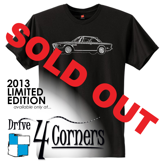 The Drive 4 Corners 2014 Event Tshirt. IN PROGRESS