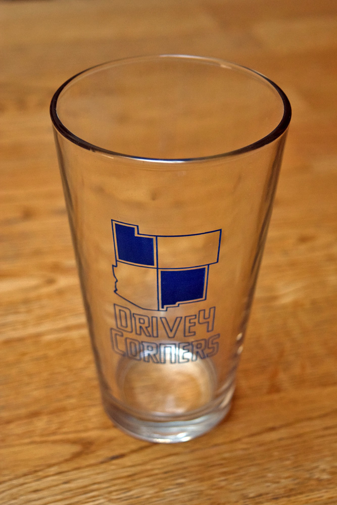 The Drive 4 Corners Pint Glass