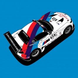 The 2012 BMW Z4 GTE in BMW Motorsport Livery